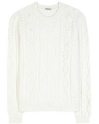 Miu Miu Virgin Wool Cable Knit Sweater