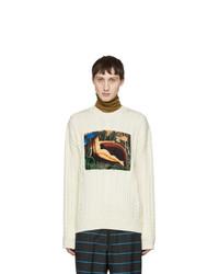 Kenzo White Printed Meto Sweater