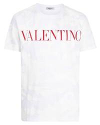Valentino Camouflage Print Logo T Shirt