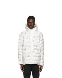 Nike White And Black Ecodown Marble Sportswear Jacket