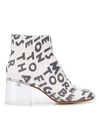 MM6 MAISON MARGIELA Text Print Ankle Boots