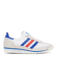 adidas Originals White And Grey Sl 72 Sneakers
