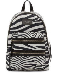 Black off white zebra biker backpack medium 628561