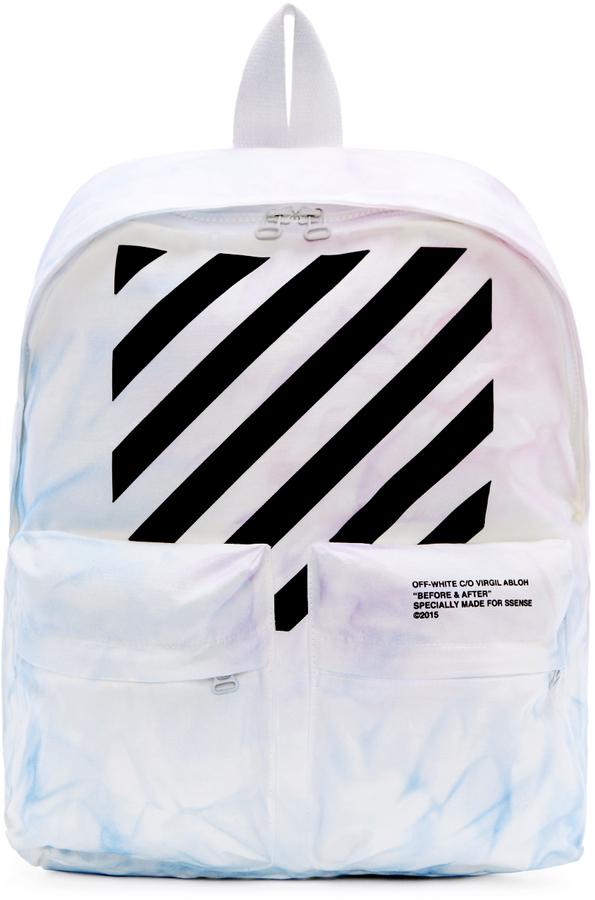 0ec4687bffcf ... Off-White Ssense Blue Purple Tie Dye Backpack ...
