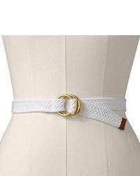 White Canvas Belt