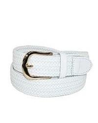 Ctm braided belt white small medium 50140