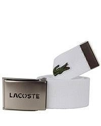 Lacoste webbed belt white medium 50138