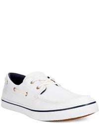 White Canvas Boat Shoes for Men | Men's Fashion