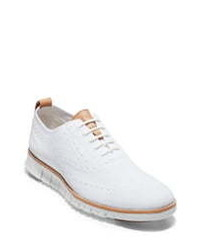 White Canvas Brogues