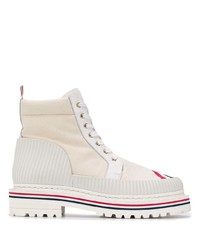 Thom Browne Rwb Stripe Ankle Boots