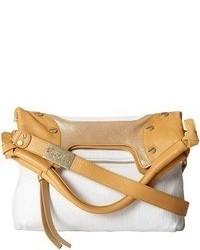 White Canvas Crossbody Bag