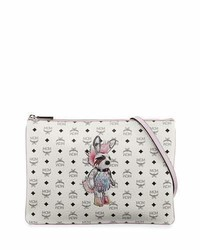 MCM Rabbit Pouch Medium Crossbody Bag White