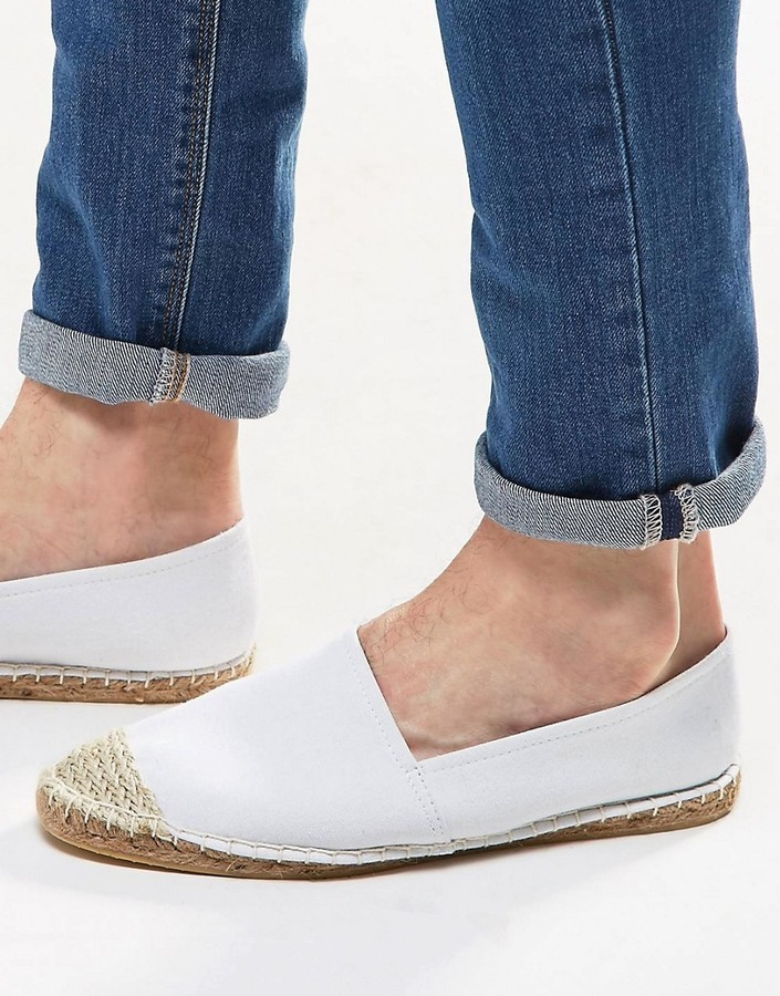White Canvas With Toe Cap