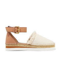 See by Chloe Leather And Canvas Platform Espadrilles