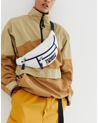 Tommy Jeans Heritage Logo Bum Bag In White