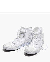 Madewell Converse Unisex Chuck Taylor All Star High Top Sneakers In White Monochrome