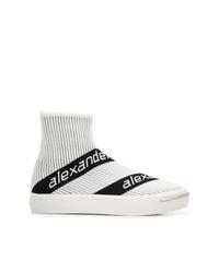 Alexander Wang Logo Stripe Sock Sneakers