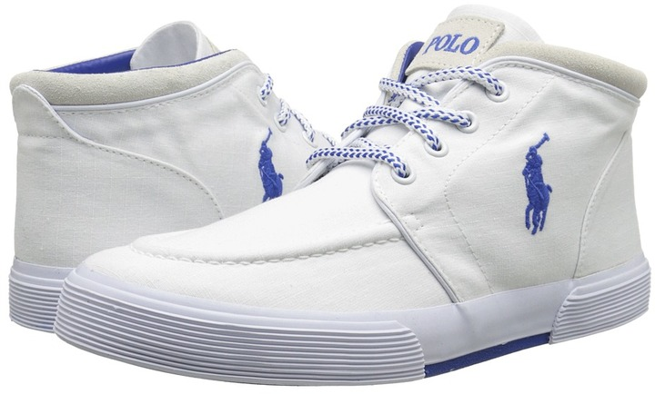 ... White Canvas High Top Sneakers Polo Ralph Lauren Polo Ralph Lauren  Federico