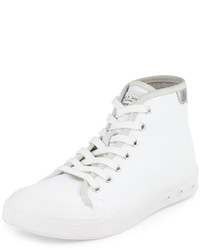Standard issue canvas high top sneaker whitesilver medium 409942