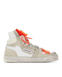 Off-White White And Orange Off Court 30 Sneakers