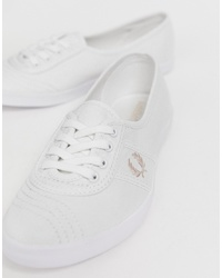Women's White Low Top Sneakers by Fred