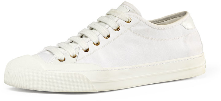 24a1a5fe98d ... Gucci Canvas Low Top Sneaker White ...