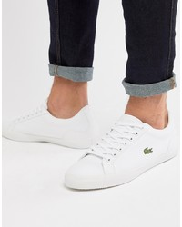 Lacoste Lerond Bl 2 Trainers In White Canvas