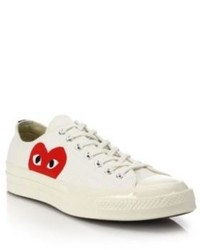Comme des Garcons Play Peek A Boo Canvas Low Top Sneakers