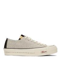 VISVIM White And Black Skagway Lo Sneakers