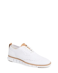 White Canvas Oxford Shoes