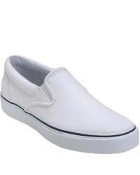 Sperry Top-Sider Striper Slip On White Slip On Shoes