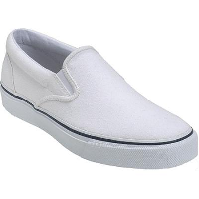 343021f71e ... Sperry Top-Sider Striper Slip On White Slip On Shoes