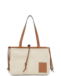 Loewe Off White Canvas Small Cushion Tote