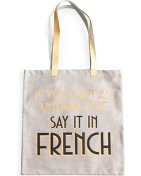 Say it in french tote bag white medium 963685