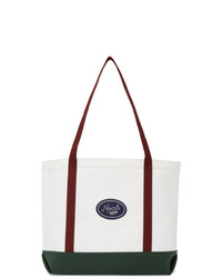 Noah NYC White Colorblocked Tote