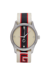 Gucci White G Timeless Logo Watch