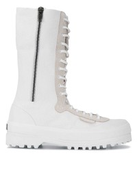 White Canvas Work Boots