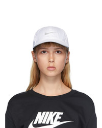 Nike White Logo Featherlight Running Cap