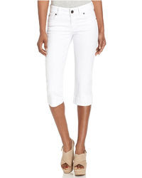 KUT from the Kloth Cropped Skinny Capris White Wash