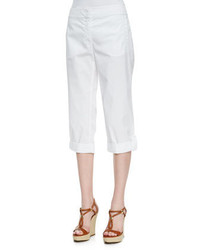 Eileen Fisher Cuffed Twill Capri Pants Petite