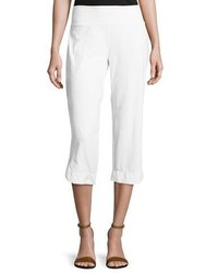 Neon Buddha Eden Pull On Capri Pants White