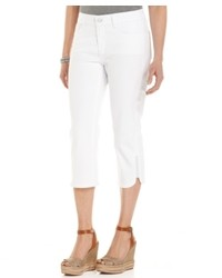 NYDJ Devin Skinny Capri Jeans Optic White Wash