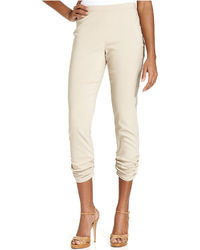 Style&co. Skinny Ruched Pull On Capri Pants