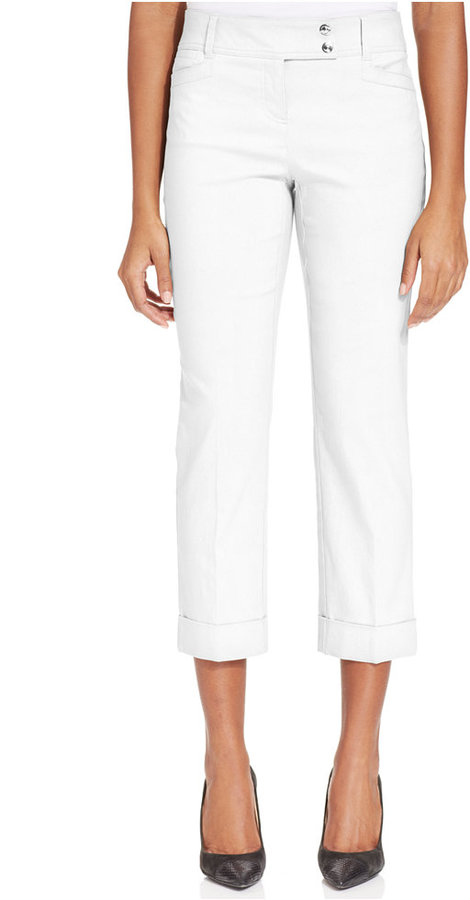 62001f9344f Style&co. Style Co Petite Slim Fit Tummy Control Cuffed Capri Pants ...