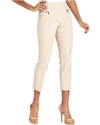 Style&co. Zip Pocket Pull On Capri Pants