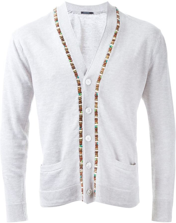 GUILD PRIME Beaded Fastening Button Down Cardigan | Where to buy ...