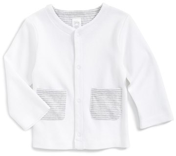 Nordstrom Infant Baby Patch Pocket Cotton Cardigan
