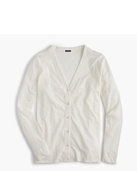 J.Crew Long Sleeve Cardigan In Slub Cotton