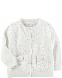 Osh Kosh Oshkosh Long Sleeve White Cardigan Baby Girls