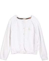 Burberry Valentine Long Sleeve Raglan Cardigan White Size 4y 14y
